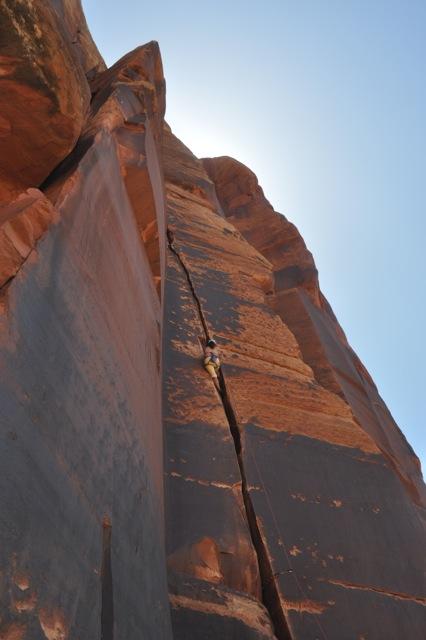 Crack climbing, Moab, Utah May 2013