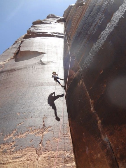 Crack climbing, Moab, Utah May 2013