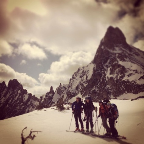 Winter Traverse of Thomson and Williams Pass, Sawtooth Mts., 2013