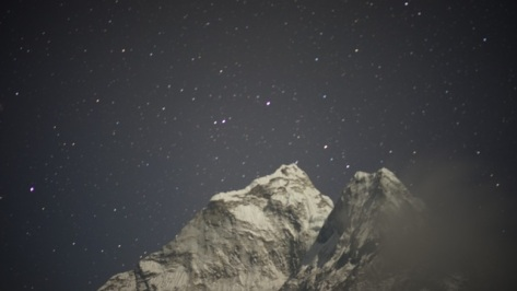 Night sky over Ama Deblam Sagarmatha National Park, Nepal, April 2014 (Photo credit: Kapp Singer)
