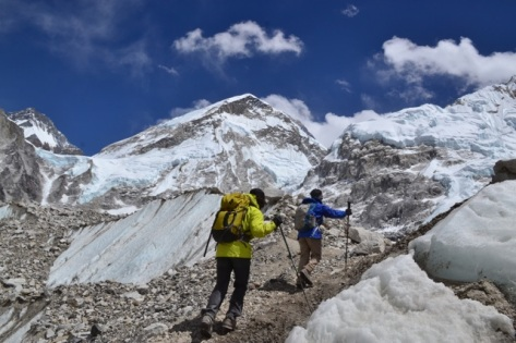 The last mile to Everest Base Camp, April 2014