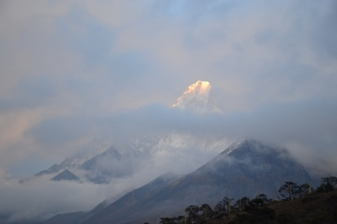 Daybreak, Ama Dablam, April 2014
