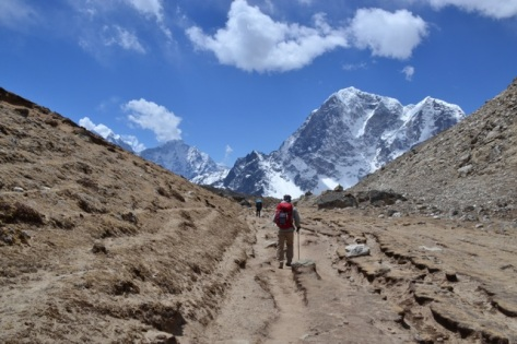 The road back to Lobuche, Nepal, April 2014