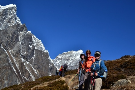 Trekking in the Khumbu, Nepal, April 2014